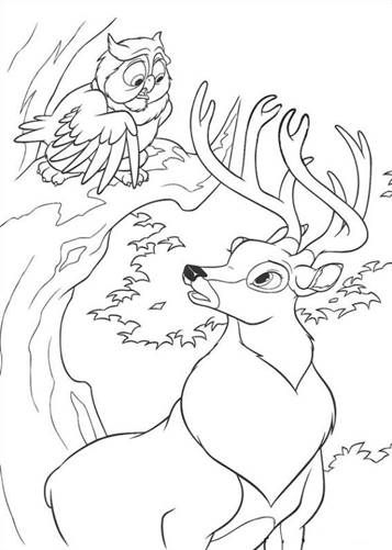 Schöne malvorlage Bambi 2 auf Kids-n-Fun in 2020