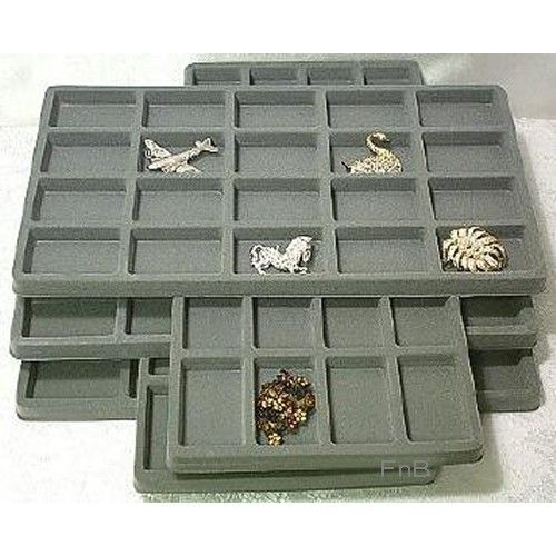 5 20 Space Gray Jewelry Box Display Tray Insert Liners