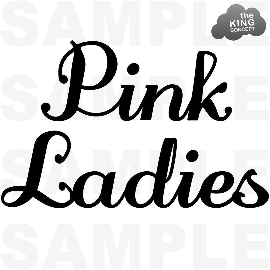 Pink Ladies Iron On T-Shirt Movie Jacket Sandy Grease Night Hen T Birds Transfer