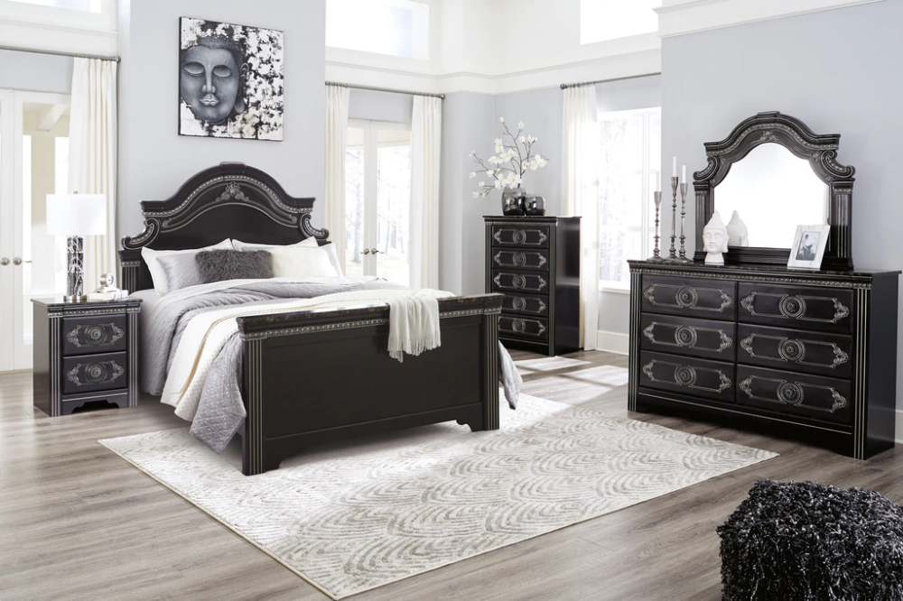 The 7pc Banalski Bedroom Collection In 2021 Dark Brown Bedrooms Bedroom Set Bedroom Sets Queen