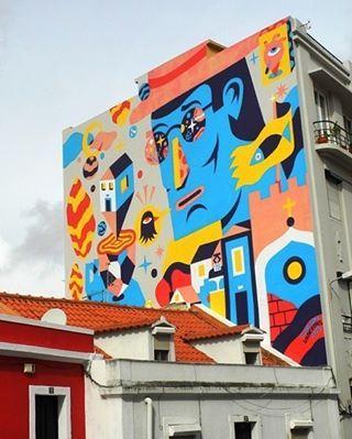 Akacorleone at #graça #lisbon #streetart by @akacorleone - pic www.street-art-avenue.com