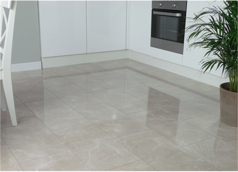 8mm Bottocino Cream High Gloss Tile Effect Laminate Flooring