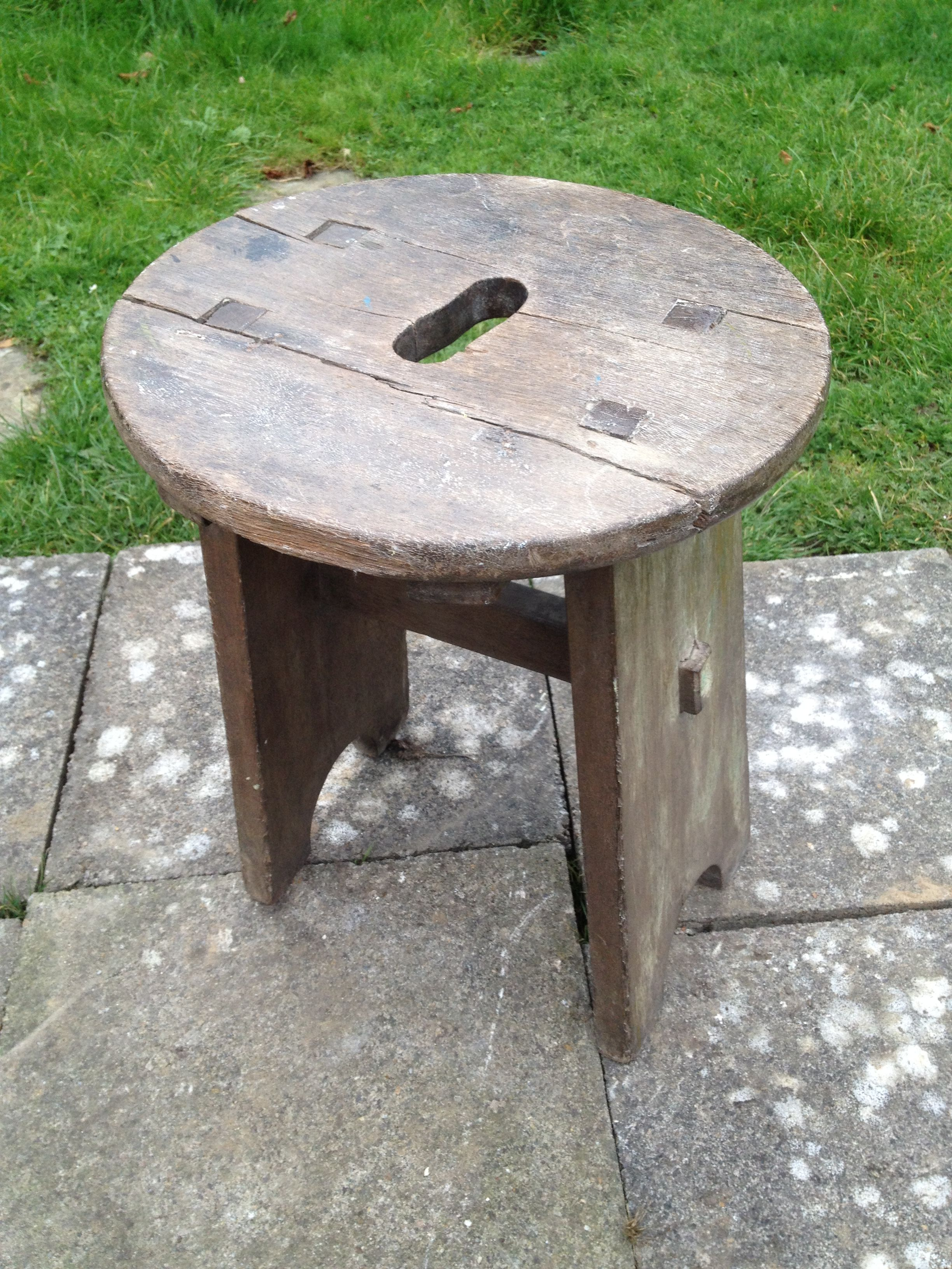 This beautiful rustic stool sold the first day it was available for ...