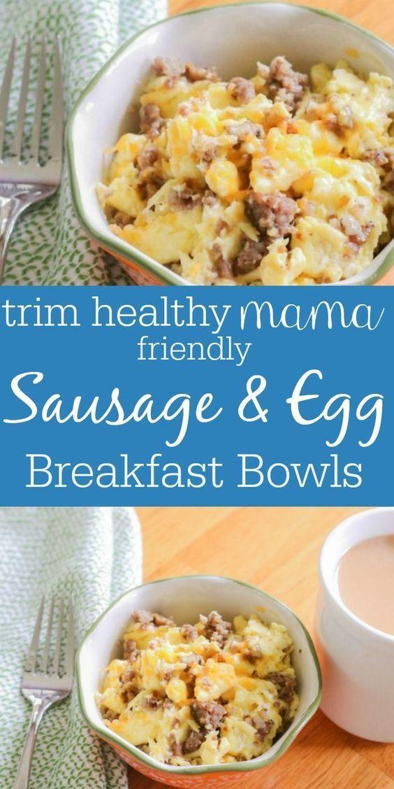 keto sausage  egg breakfast bowls  trim healthy mama