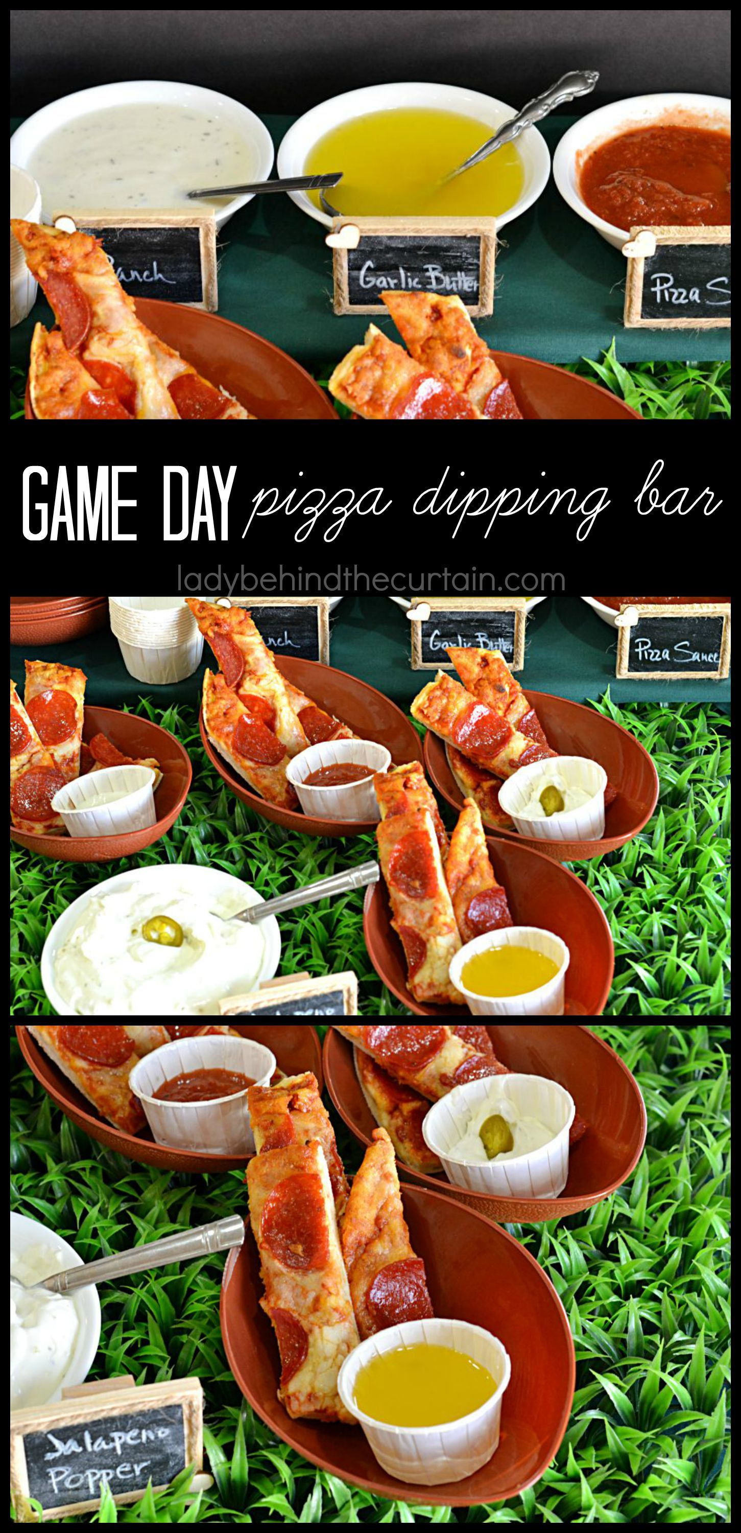 Game Day Pizza Dipping Bar - Lady Behind the Curtain