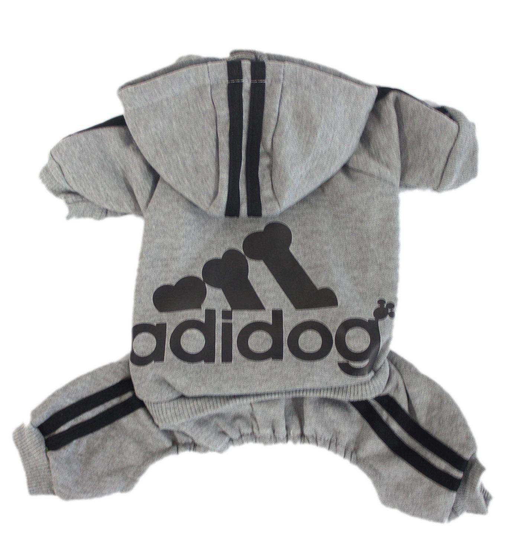 Adidog Dog Sweatsuit Small Dog Clothes Dog Hoodie Pet Clothes [ 1500 x 1365 Pixel ]