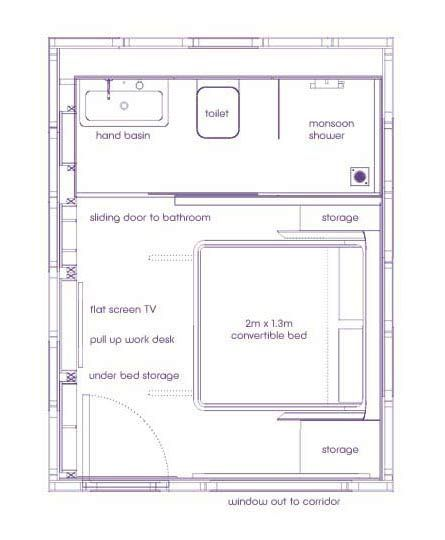 Yotel Premium Cabin Floor Plan Small Hotel Room Boutique Hotel Room Loft Floor Plans