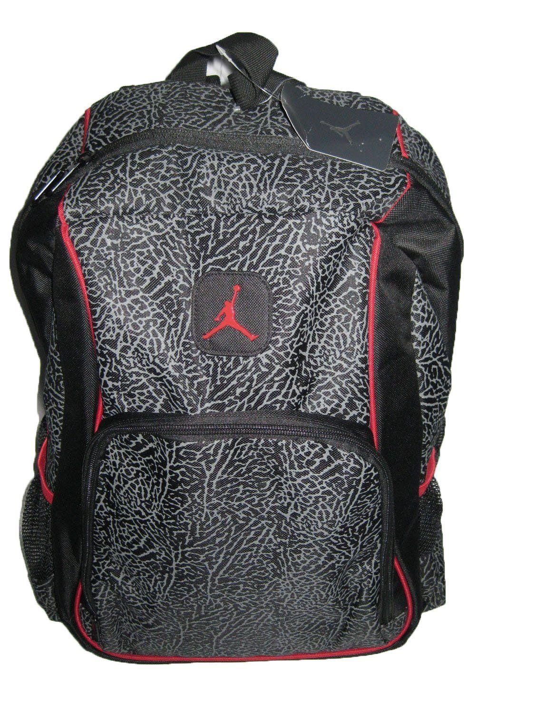 c963d8ce8c Jordan 'Elephant' 2-Strap Backpack - black/red, one size * Visit the image  link more details.