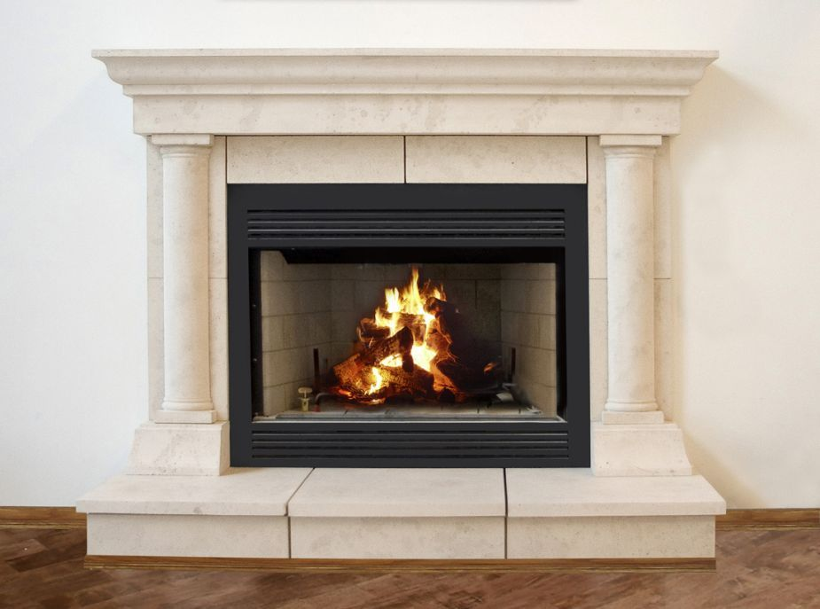 Boxing In My Free Standing Fireplace Fireplace Mantel Designs Stone Fireplace Mantel Cast Stone Fireplace