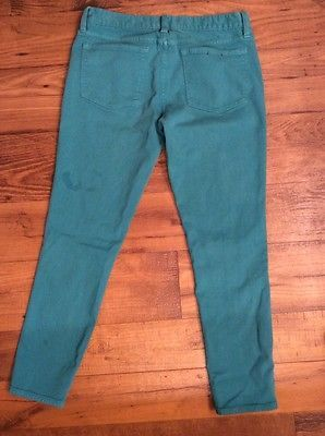 Women's J.Crew Toothpick Green Pants Size 28 Ankle