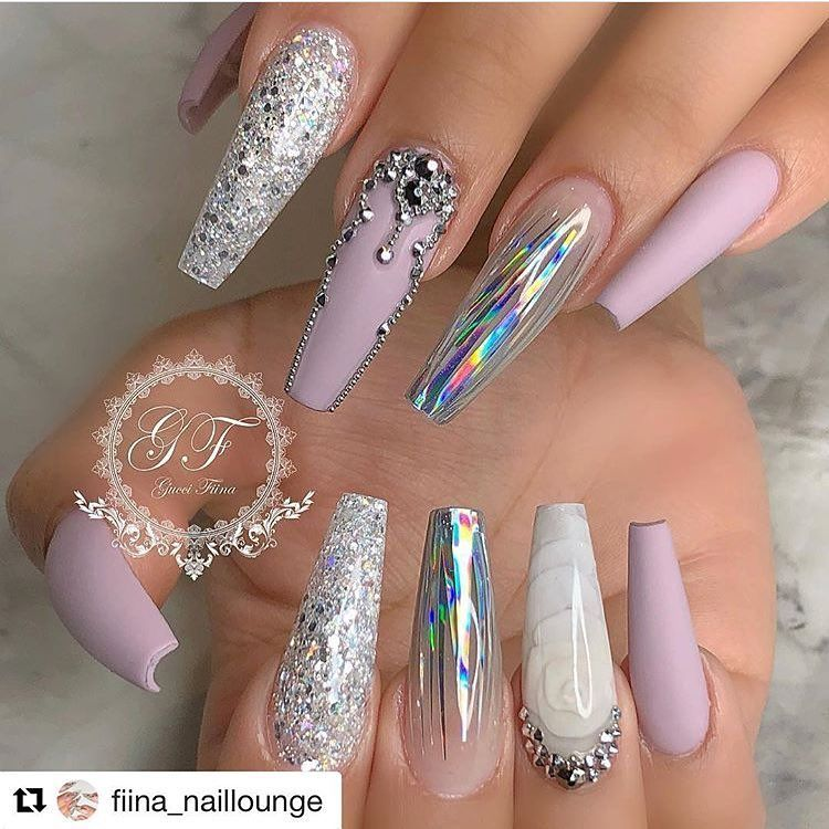 45 Models Of Nails Decorated For A Christmas Eve 2019 Page 33 Of 45 Nail Designs Manicure Blog Christmas Nails Acrylic Nail Designs Acrylic Nail Designs