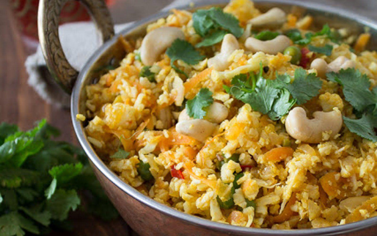 Cauliflower Rice Biryani [Vegan] Rice recipes vegan