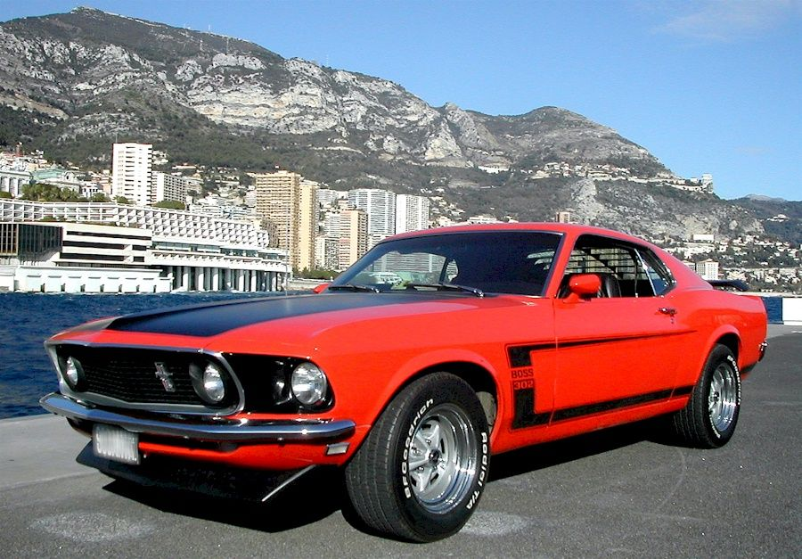 1969 Mustang Boss Vintage Muscle Cars Mustang Car Ford