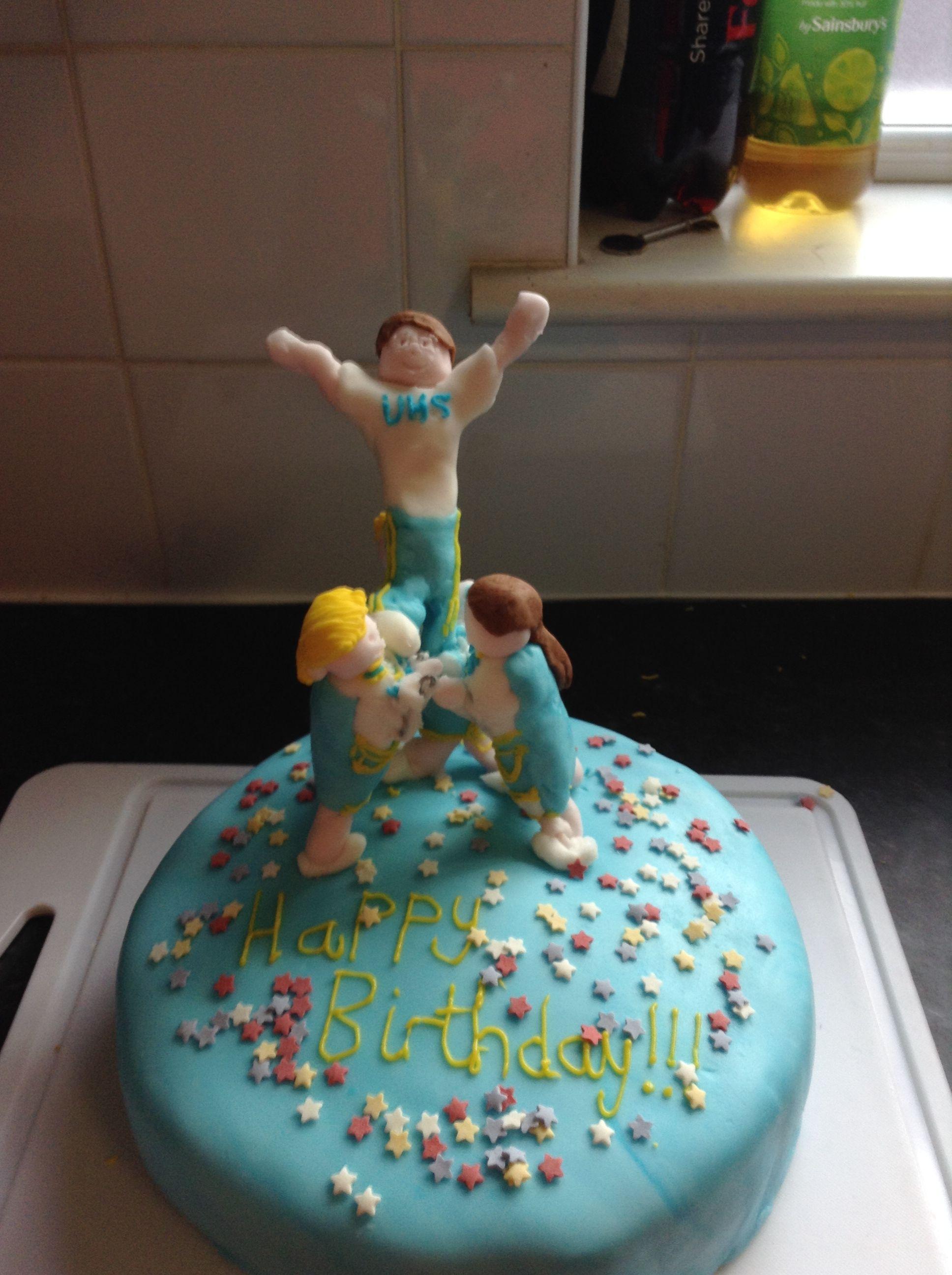 Cheerleading Birthday Cake Cakes Yummy Ideas Turning