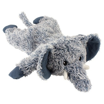 Cuddle Toss Elephant Plush Squeaky Dog Toy Blue L Boots
