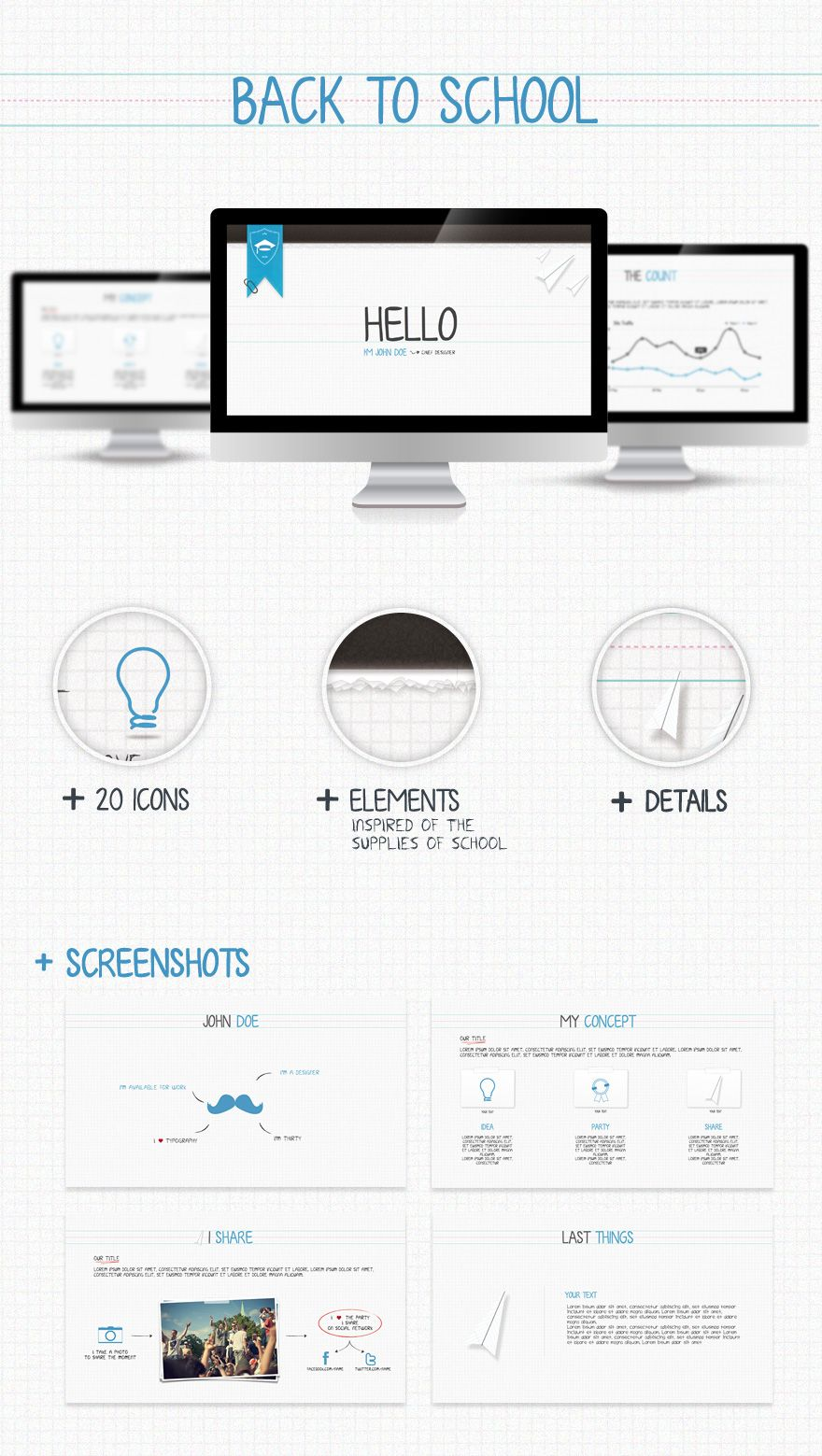 Back to school project for presentation branding and identity presentation powerpoint templates from graphicriver toneelgroepblik Images