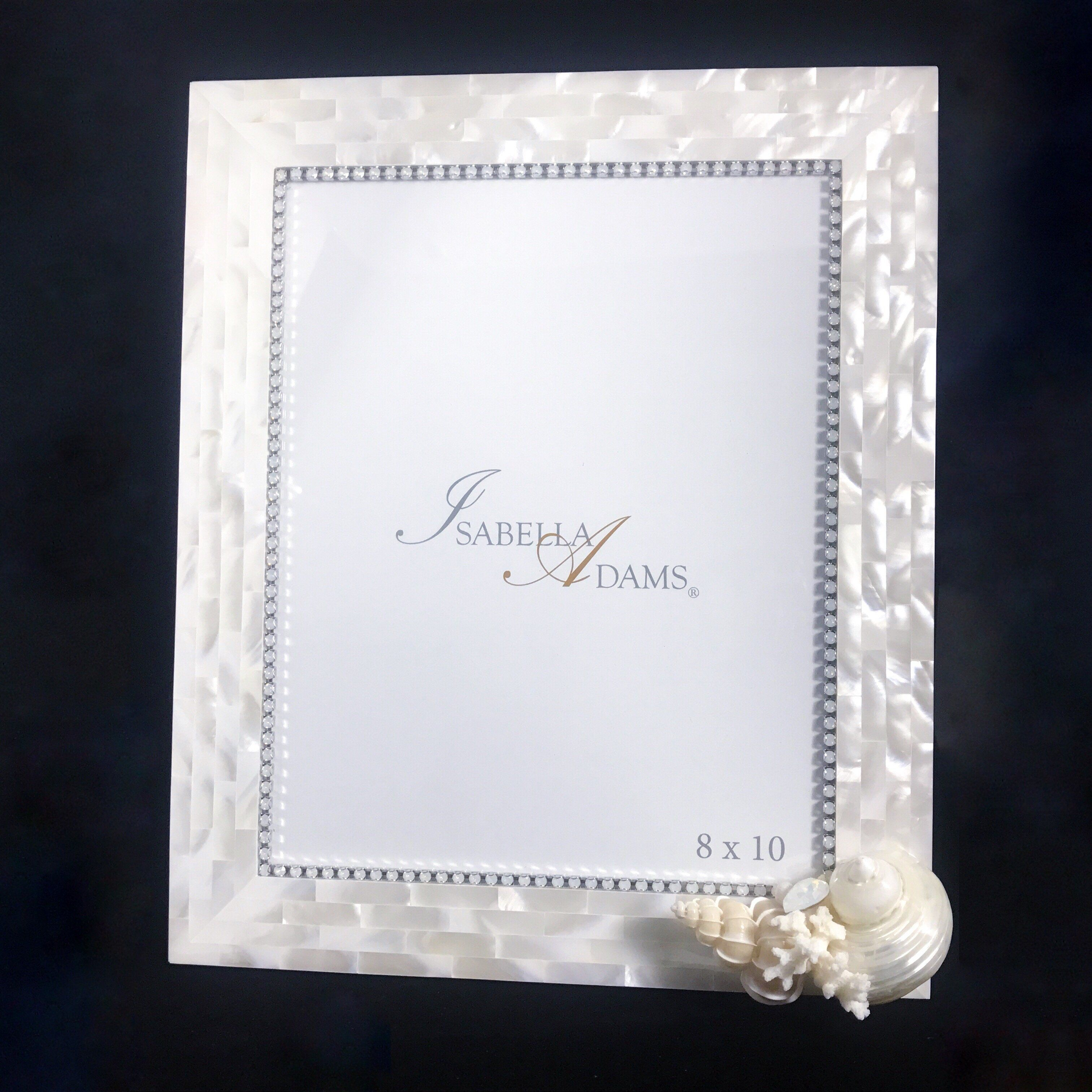 8 x 10 Mother of Pearl Picture Frame Featuring White Opal Swarovski ...