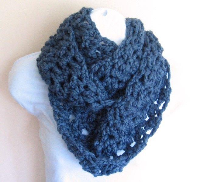 Blueberry Beautiful Infinity Scarf. Women Accessories Crochet | DIY ...