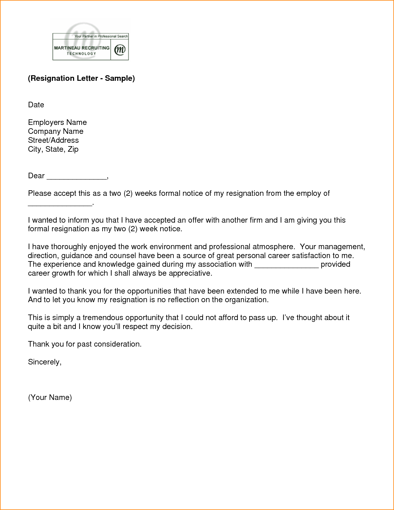 Appreciation Letter Former Boss Retirement From Employer