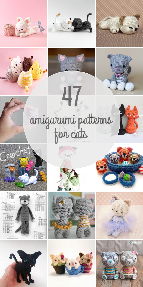 Are you a cat lover? You'll go crazy for these 47 amazing Amigurumi Patterns For Cats. Pick your favorite!