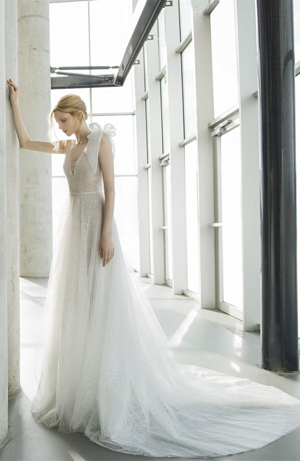 Mira Zwillinger delicate flower pattern tulle wedding dresses 2016 stardust Tonya