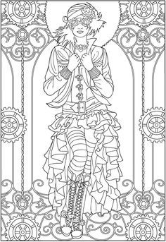 Dover Publications Offers 5 Free Examples To Download And Give It A Try Beautiful Steampunk Coloring Pageswe Ladies Love Them