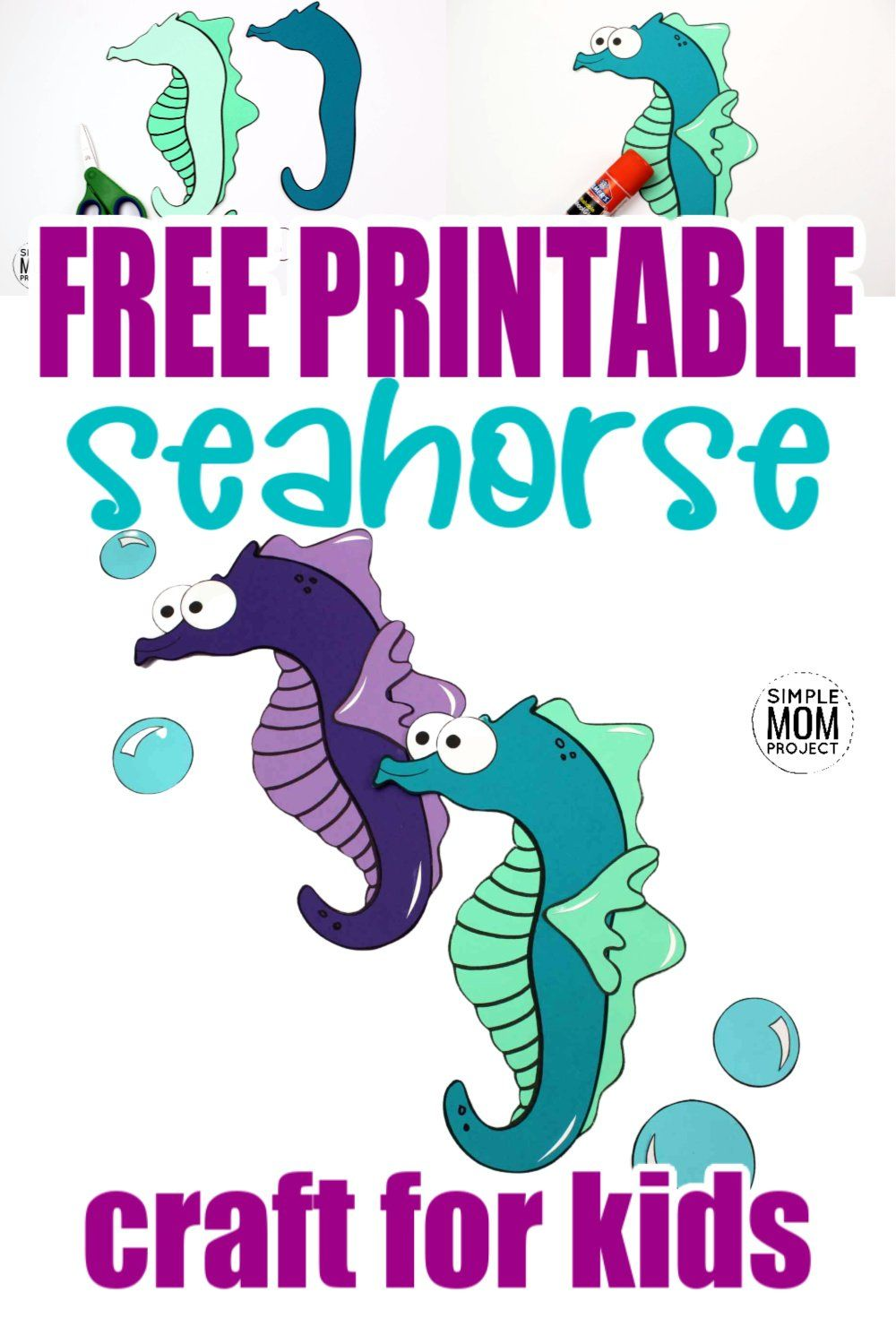 Fun Seahorse Craft For Kids With Free Seahorse Template Seahorse Crafts Ocean Animal Crafts Animal Crafts For Kids [ 1500 x 1000 Pixel ]