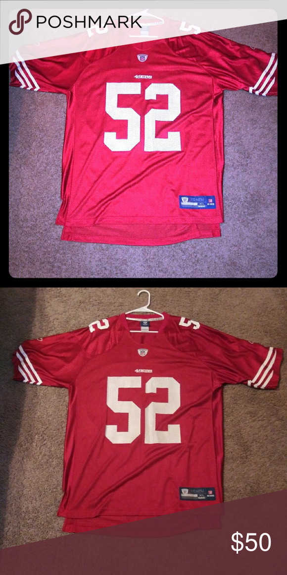733cf1e6 49ers Jersey #52 Patrick Willis Size XL Color Red Reebok Sweaters V ...