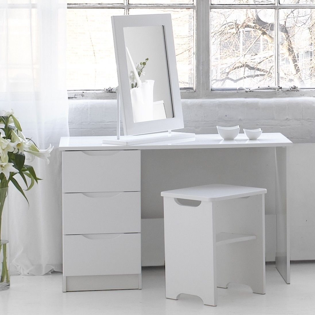 Visualise Alpine Dressing Table Set Wayfair Uk