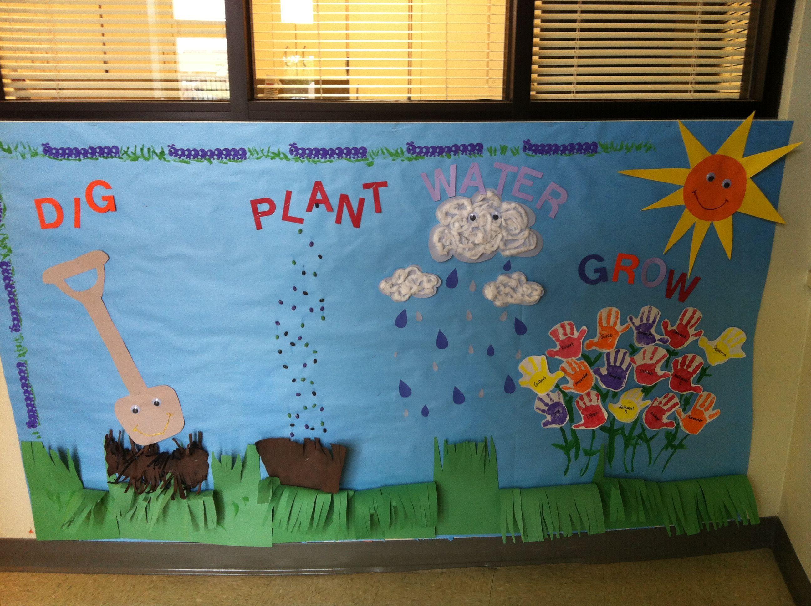 Spring Pre K Bulletin Board