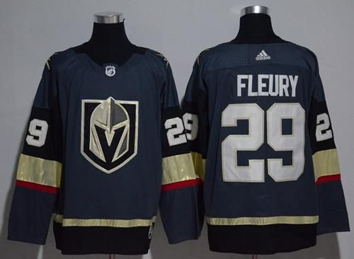 Adidas Golden Knights 29 Marc Andre Fleury Grey Home Authentic Stitched Nhl Jersey Vegas Golden Knights Jersey