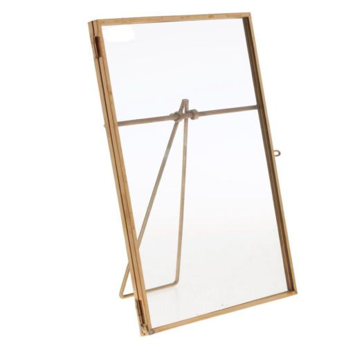 Rustic Vintage Metal Gold see-through glass picture frame wedding ...