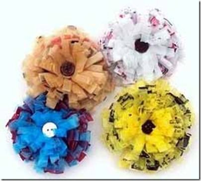 Plastic Bag Flowers Plastic Bag Crafts Recycled Plastic Bags