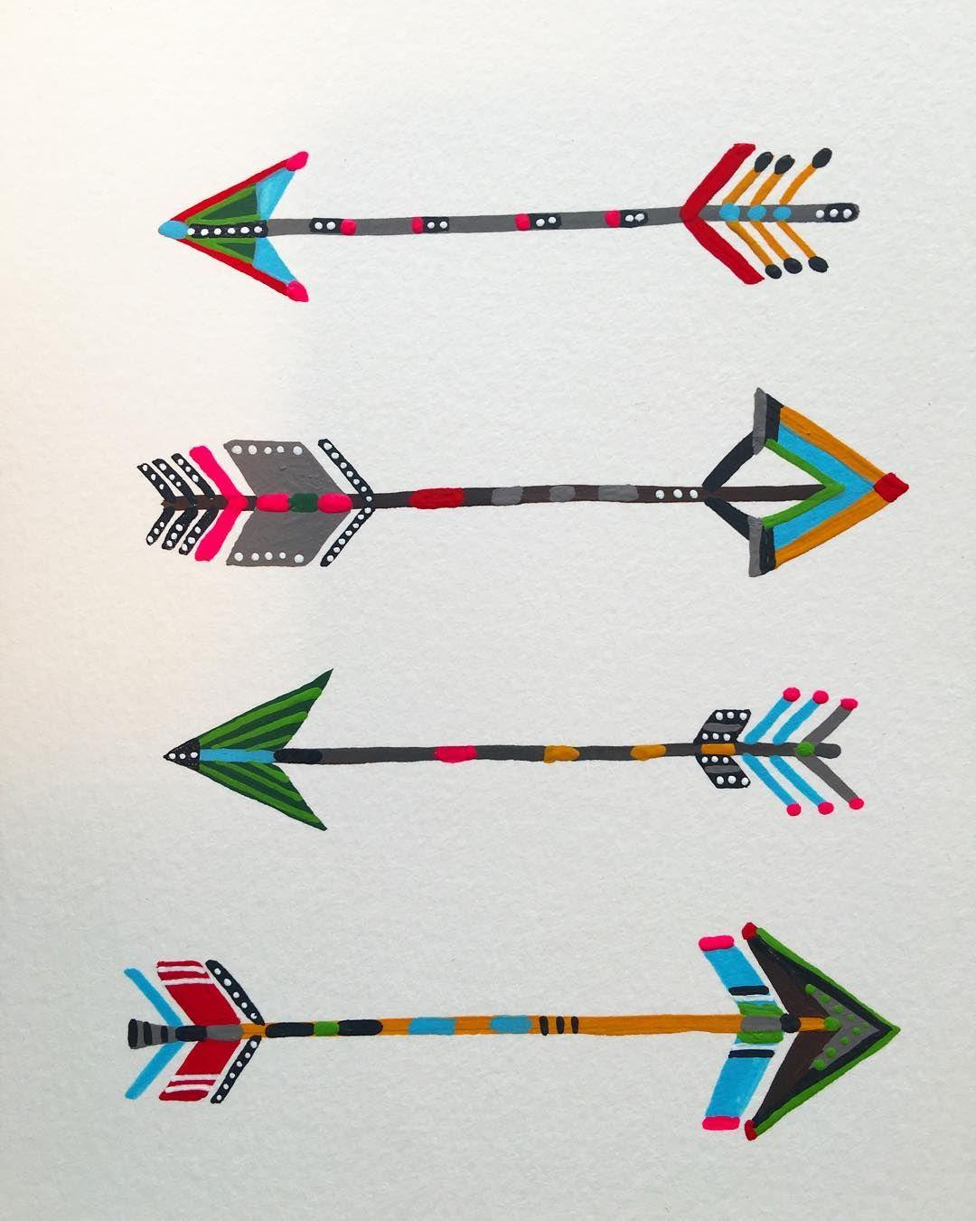 Doodle 56. Goals are deceptive; the unaimed arrow always lands on target. #365anniedoodles