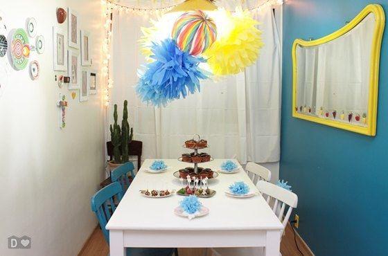 dcoracao.com - blog de decoração: Como fazer pompons de papel de seda