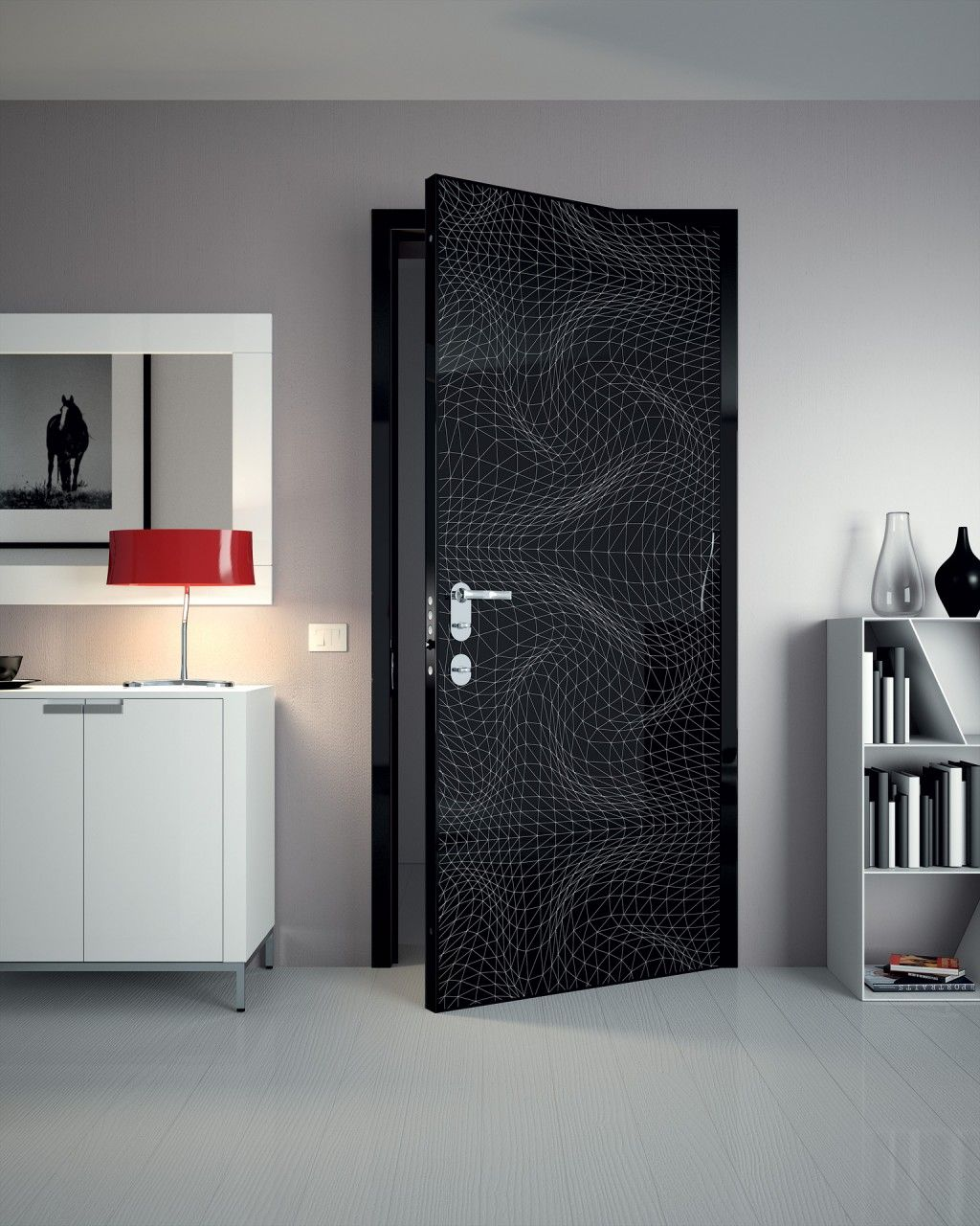 Karim Rashid - Op Art Security Door | Wooden doors ...