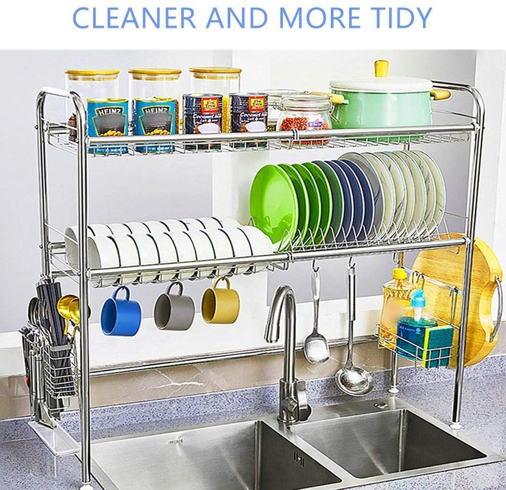 Multifuctional Design You Can Use The Dish Rack For Storage