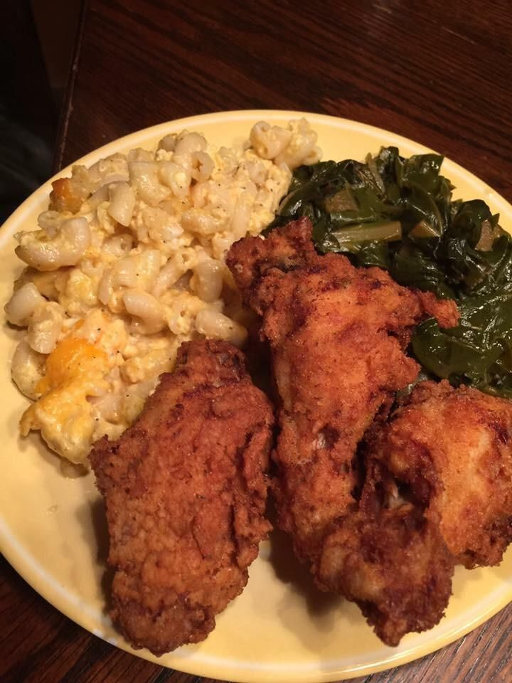 I Ate Fried Chicken Mac N Cheese And Collard Greens Recipes Food