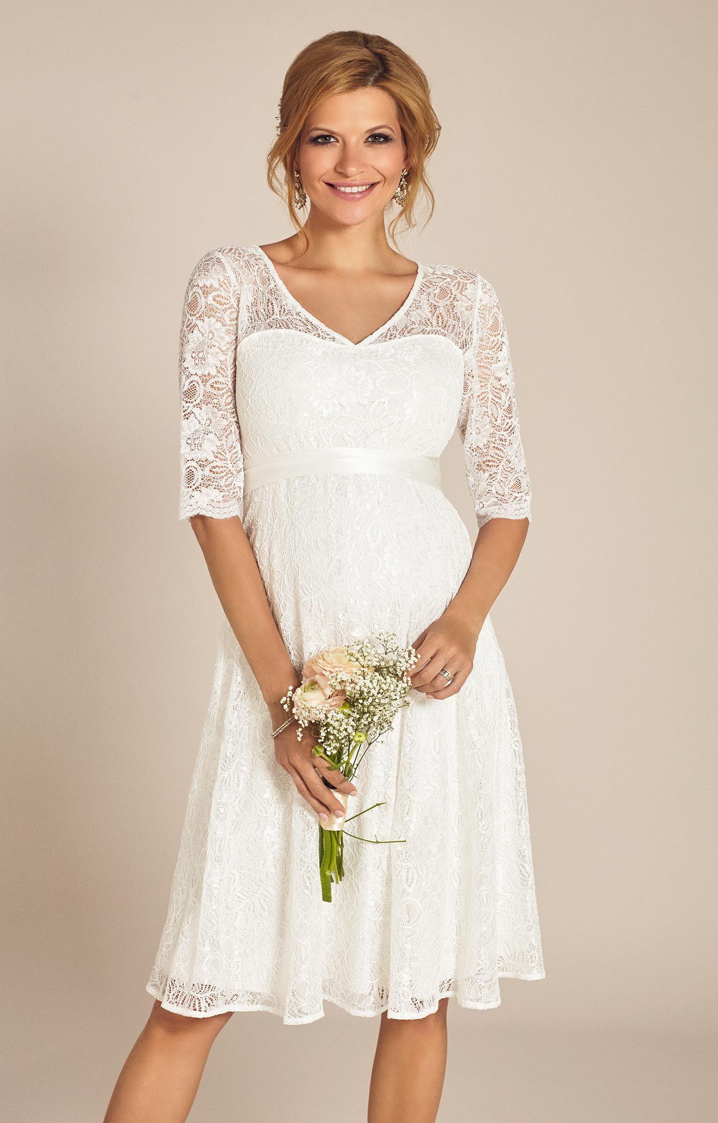 Flossie Umstands Hochzeitskleid kurz (Elfenbein