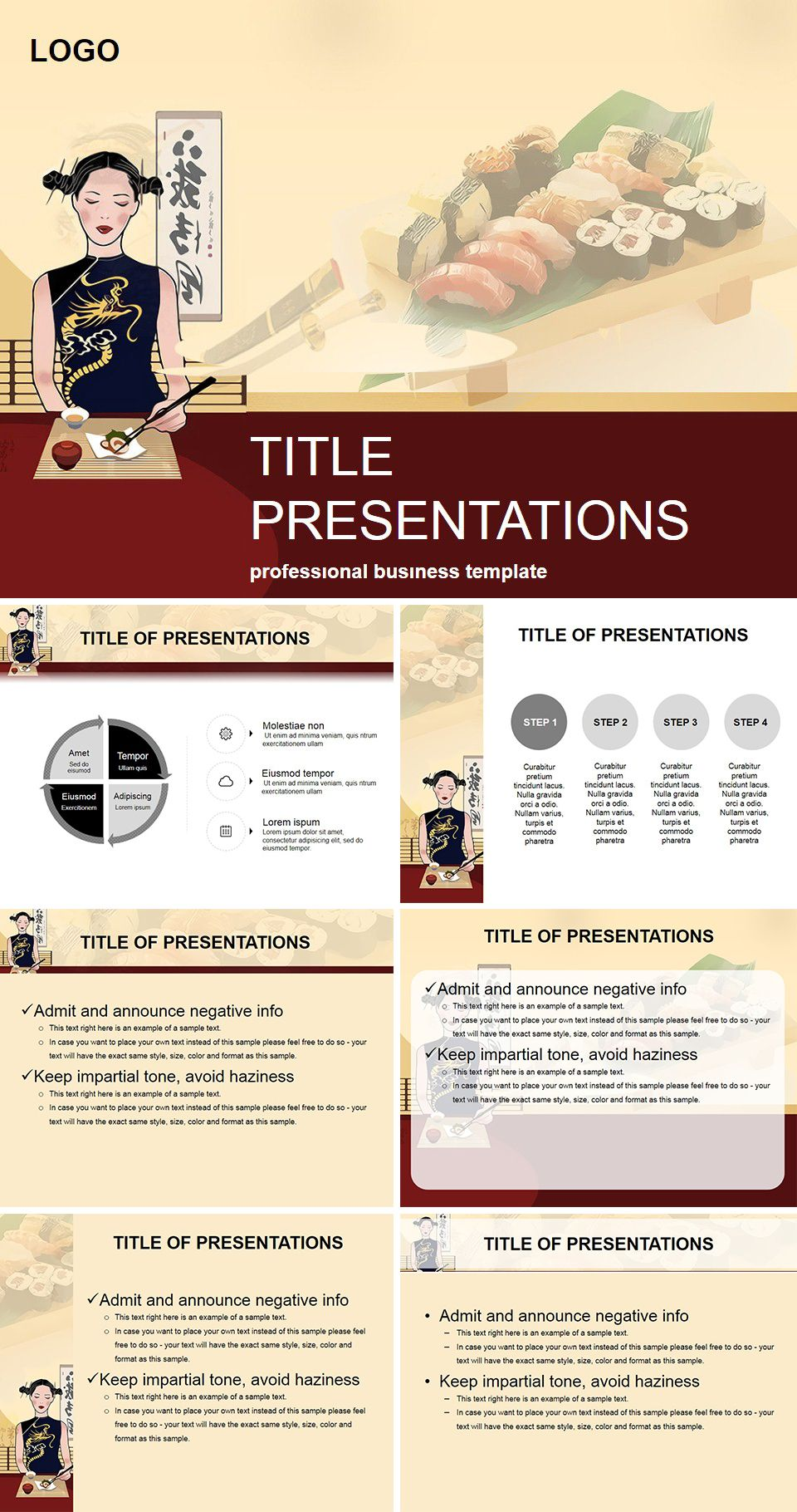 Sushi restaurant powerpoint templates sushi restaurants and template sushi restaurant powerpoint templates toneelgroepblik Images