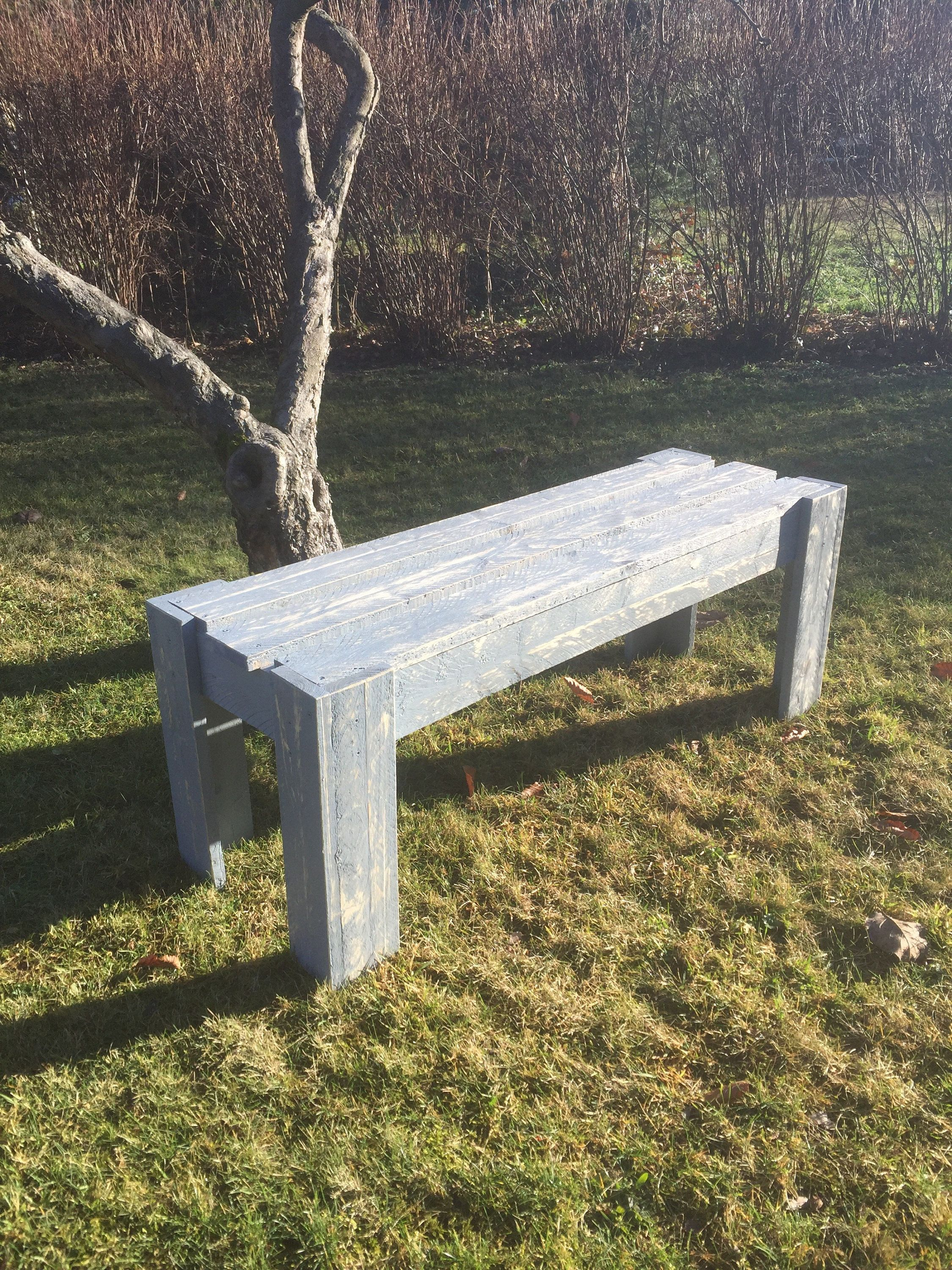 Garden bench, wooden bench, kitchen bench, party bench in used look, 125x41x50 cm