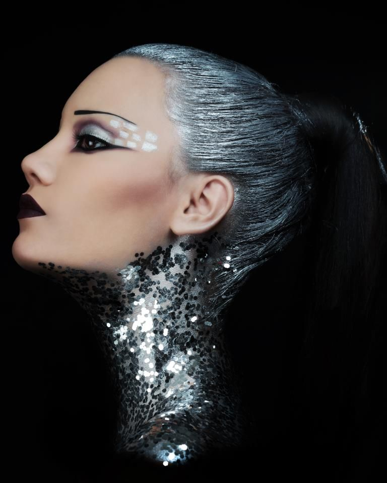 Silver Glitter Embellishments Galore Where To Buy Real Techniques Brushes Find This Pin And More On Avant Garde Makeup