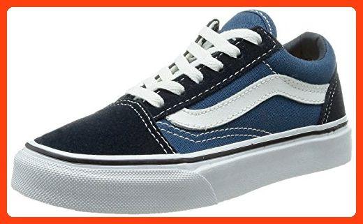 Vans Kids Old Skool Navy/True White Skate Shoe 13 Kids US ...