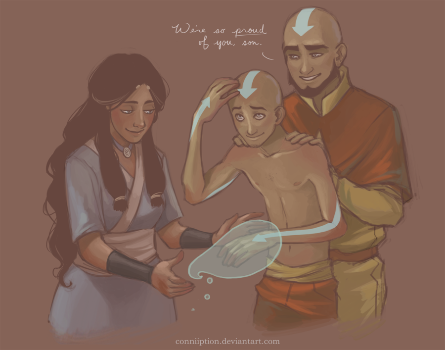 Made me audibly d'awww, lol. Tenzin getting his air nomad