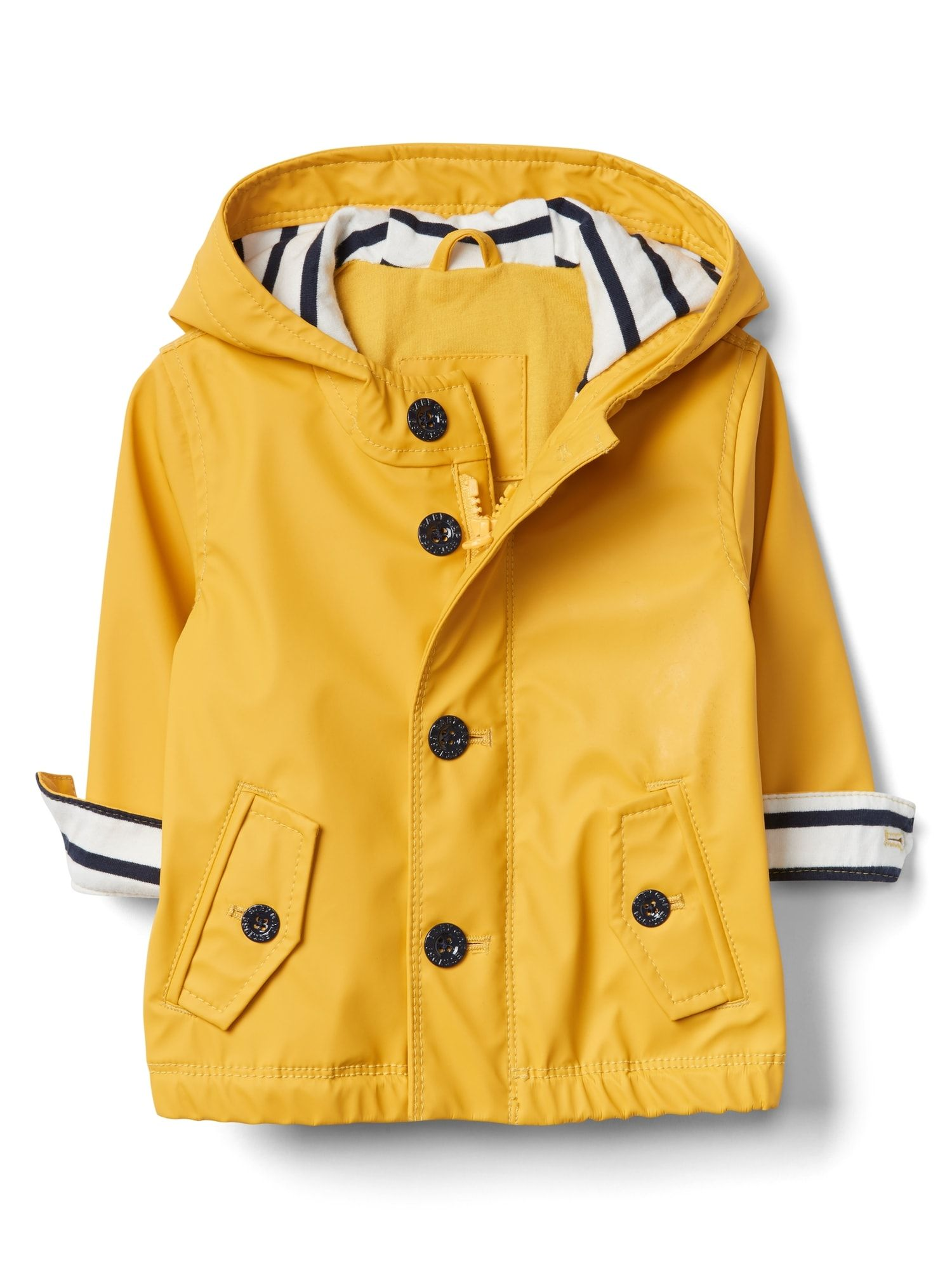 62ccccccf Our baby boy clothes are designed for ultimate comfort and convenience.  Jersey-Lined Raincoat | Gap