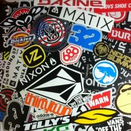300pcs Mix Lot Stickers Skateboard Sticker Graffiti Laptop Luggage Car  Decals