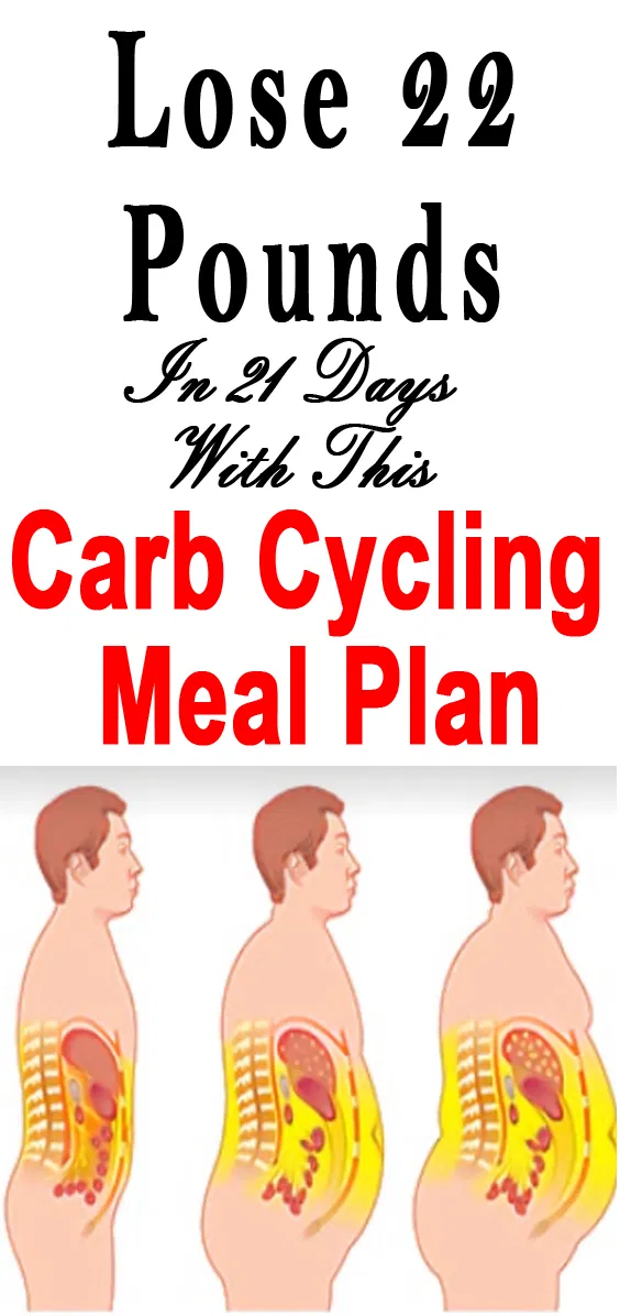 Lose 21 pounds in 21 days with this carb cycling meal plan. Carb cycling is great for fast weight loss. @carbcycling