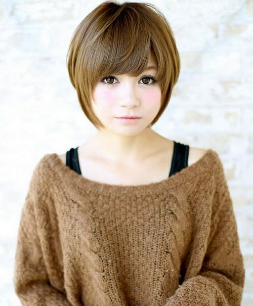 Pretty Korean Short Hairstyle Ideas You May Actually Apply - Short hairstyle asian round face