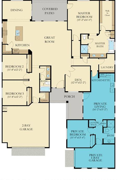 Lennar next gen the home within a home floor plans for Multigenerational homes for sale