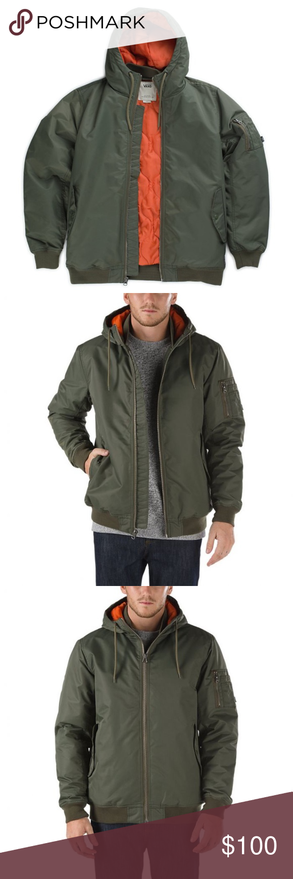 813d4f64c3a VANS Men s Kilroy Mountain Hooded Bomber Jacket XL From the Kilroy Mountain  Edition Jacket is an